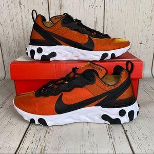 Men's Nike react element 55 premium shoes sunrise